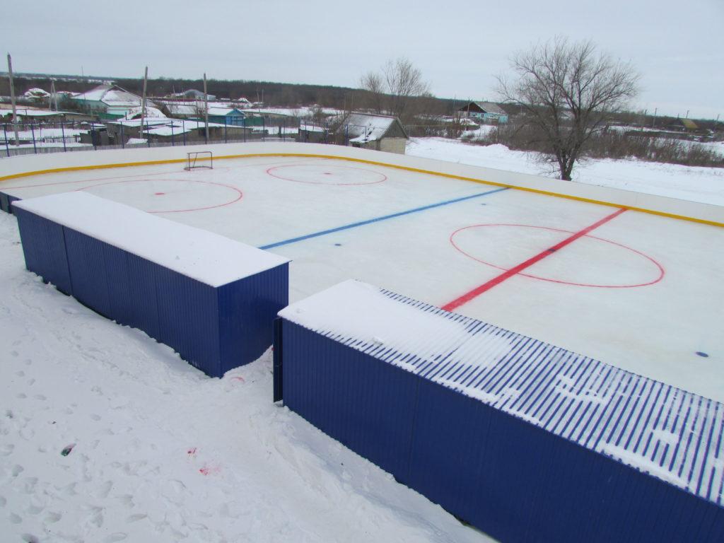 Фото изображение хоккейного корта